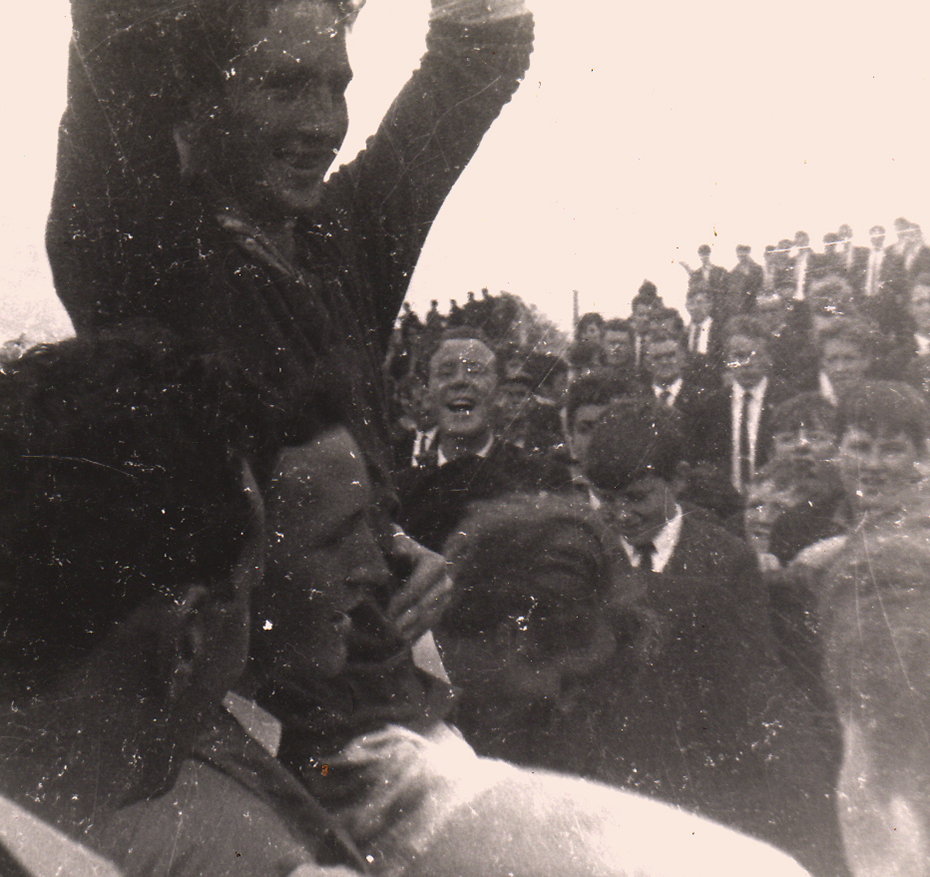 1967 Captain celebrating